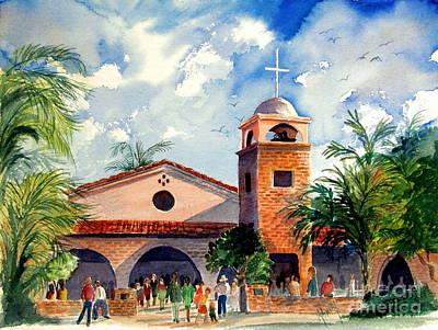 Methodists Painting - Methodist Church  Gilbert Az by Marilyn Smith