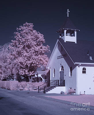 Photograph - Methodist Church In Infrared by Jim and Emily Bush