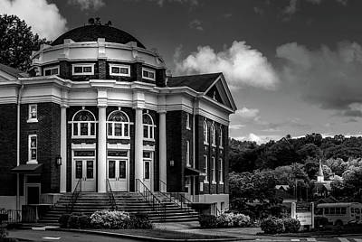 Photograph - Methodist Churches In Black And White by Greg Mimbs