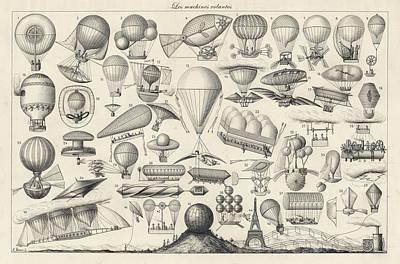 Flightdeck Drawing - History Of  Early Aeronautics by Vintage Pix