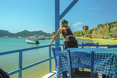 Photograph - Methoni Beach Porch by Benny Marty