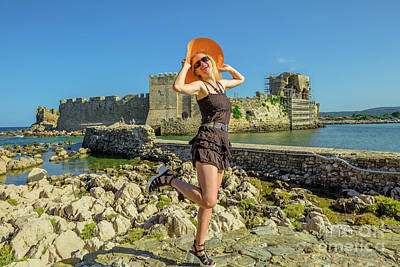 Photograph - Methoni Castle Summer Vacation by Benny Marty