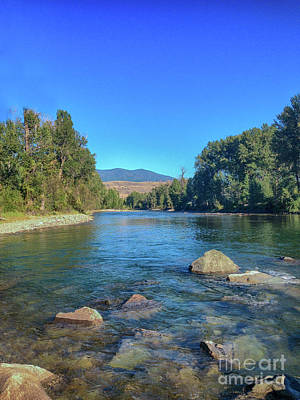 Photograph - Methow River Rocks Landscape Photography By Omashte by Omaste Witkowski