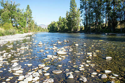 Photograph - Methow River Rocks by Tom Cochran
