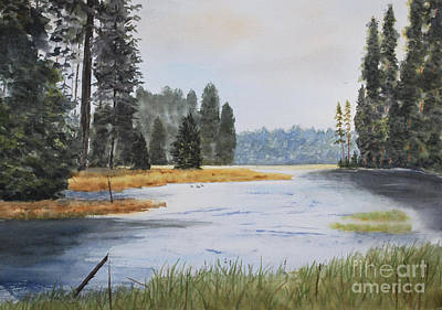 Metolius River Headwaters Art Print by Stanton Allaben