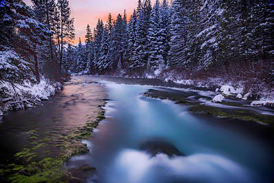 Print featuring the photograph Metolius Sunset by Cat Connor