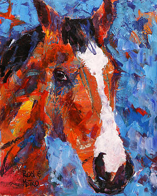Racehorse Painting - Metro #8 by Ron and Metro
