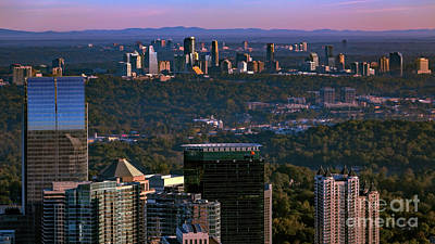 Photograph - Metro Atlanta Skyline by Doug Sturgess