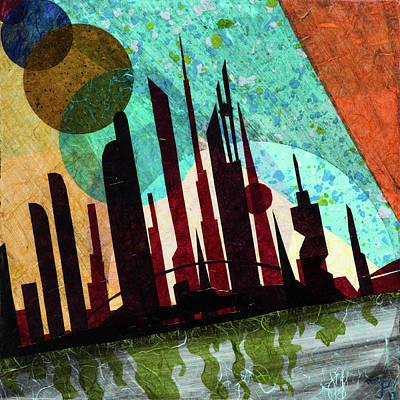 Mixed Media - Metro Castles Gotham by CJ Peltz