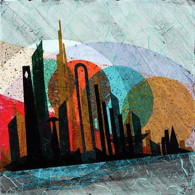 Mixed Media - Metro Castles Ocean City by CJ Peltz