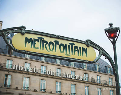 Photograph - Metro Louvre by Sonja Quintero