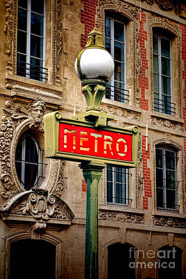 Metro Art Print by Olivier Le Queinec
