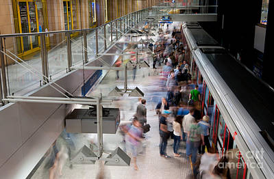 Metro Passengers Motion Art Print