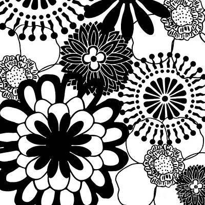 Retro Modern Painting - Metro Retro Vintage Modern Black And White  by Mindy Sommers