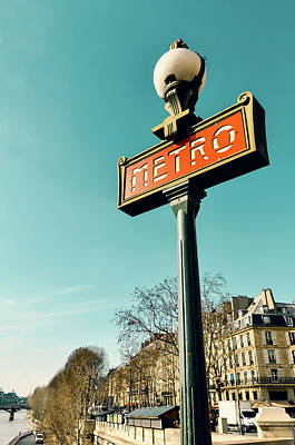 Photograph - Metro Sign In Paris by Dutourdumonde Photography