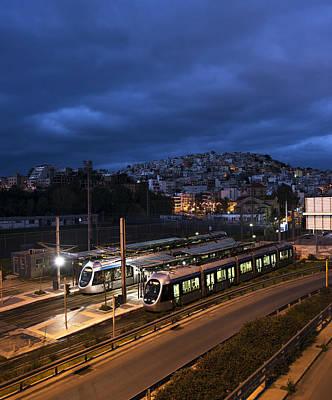 Photograph - Metro Station At Sunrise. by Radoslav Nedelchev