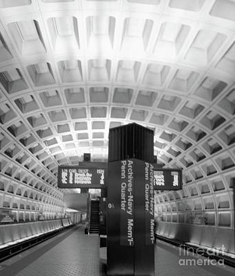 Photograph - Metro Station D C by John S