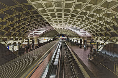 Photograph - Metro Station by Maria Coulson