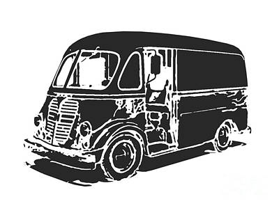 Coach Drawing - Metro Step Van Tee by Edward Fielding