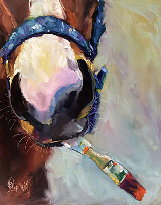 Racehorse Painting - Metro The Painting Racehorse by Ron Krajewski