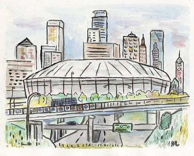 Painting - Metrodome by Matt Gaudian