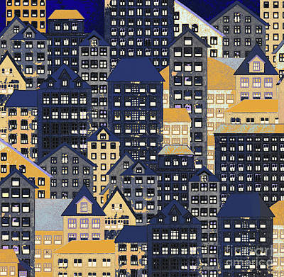 New York City Skyline Mixed Media - Metropolis 10 by Robert Todd