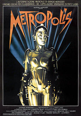 Jbp10ma14 Photograph - Metropolis, 1927 Poster For 1984 by Everett