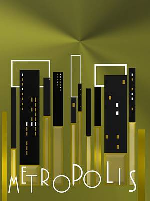 Geometric Art Digital Art - Metropolis by Alberto RuiZ