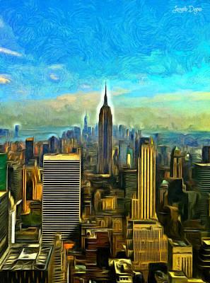 Newyork Digital Art - Metropolis - Da by Leonardo Digenio