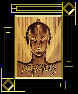 Digital Art - Metropolis Frame 5 by Chuck Staley