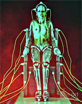 Topless Digital Art - Metropolis Robot Woman Mark Two by Mary Bassett