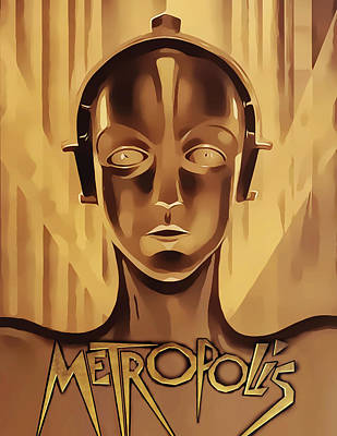 Digital Art - Metropolis - Vertical by Chuck Staley