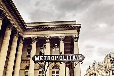 Subway Art Photograph - Metropolitain - Paris by Melanie Alexandra Price