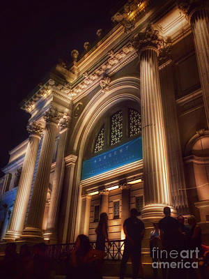 Photograph - Metropolitan Museum At Night Four by Miriam Danar