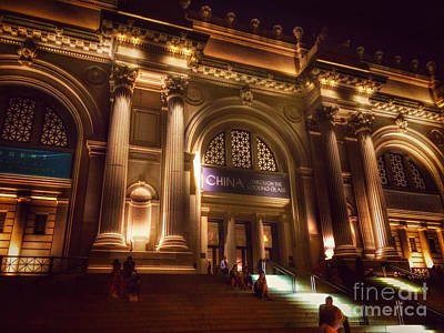 Photograph - Metropolitan Museum At Night Three by Miriam Danar