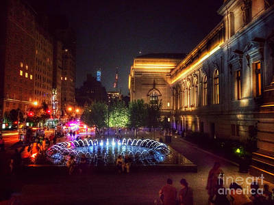 Photograph - Metropolitan Museum At Night Two by Miriam Danar