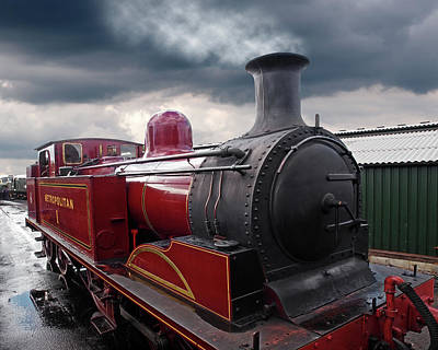 Train Station Photograph - Old Metropolitan Steam Train by Gill Billington
