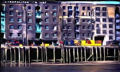 Metropolitan Wharf Art Print