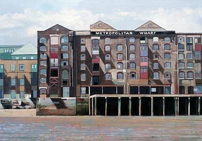 Metropolitan Wharf Art Print by Peter Wilson