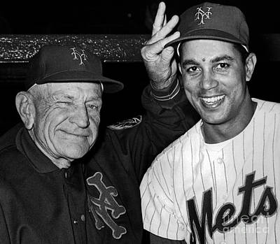 Casey Stengel Photograph - Mets Win Fifth Straight by William N Jacobellis