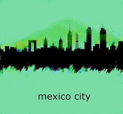 Mexico City Skyline 2  Art Print