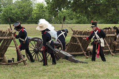 Photograph - Mexican Artillery Performers At The Annual Battle Of San Jacinto Festival And Battle Reenactment by Carol M Highsmith