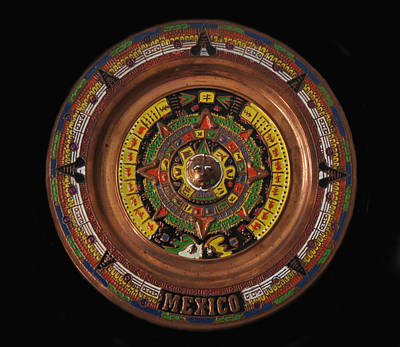 Ancient Symbols Photograph - Mexican Aztec Calendar by Art Spectrum