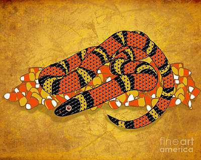 Mexican Candy Corn Snake Art Print by Laura Brightwood