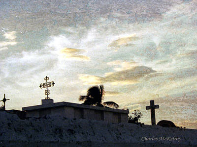 Photograph - Mexican Cemetery by Charles McKelroy