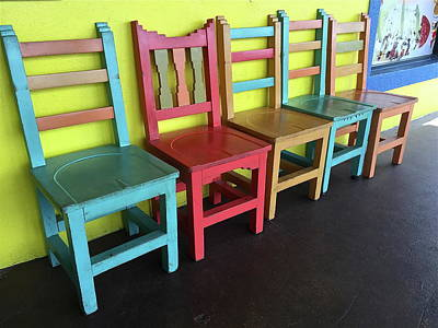 Photograph - Mexican Chairs by Denise Mazzocco