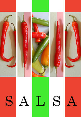 Photograph - Mexican Chilis And Salsa by George Olney
