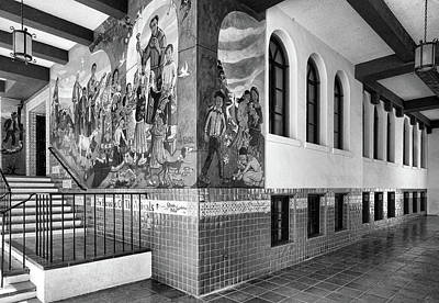 Photograph - Mexican Cultural Institute Los Angeles - Instituto Cultural Mexicano De Los Angeles -black And White by Ram Vasudev