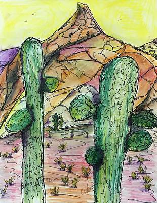 Painting - Mexican Desert by Chuck Gebhardt