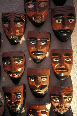 Photograph - Mexican Devil Masks by John  Mitchell
